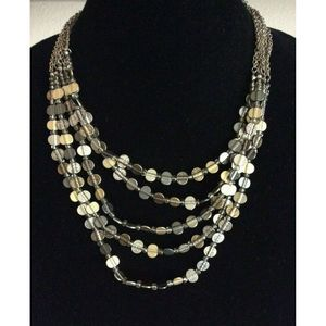 """Chico's Multi-Layer Hammered Metal Necklace 20"""""""